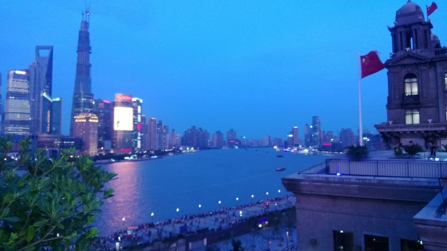 View from the roof at a bar on the Bund.  WOW-I live here now!
