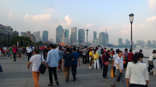 Crowds on The Bund