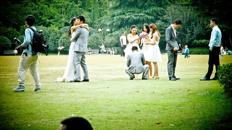 Wedding party in Fuxing Park