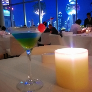 2 for 88rmb cocktails plus free pizza & munchies at Isola and the view is priceless