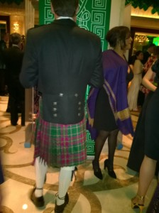 Kilts galore, of course!