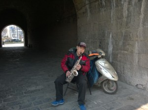 Mr. Sax Man in Nanjing