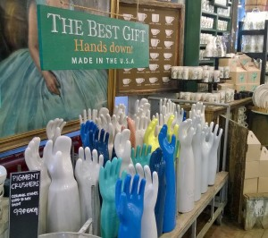 Fish Eddy-where else can you buy ceramic hands??