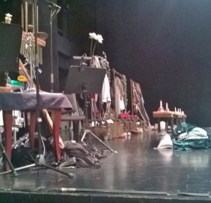 Dressing rooms on either side of the stage facilitated quick changes for actors