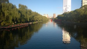 Canal near the Westin and bathing pool for some gents I saw today.