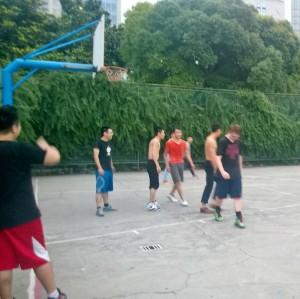 Basketball is big here in Shanghai!