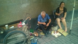 Shoe Cobbler is busy on Sundays