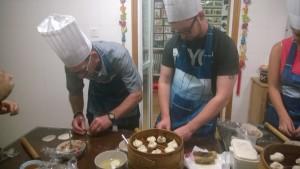 Attempting to make dumplings.