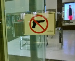 Only in the U.S. do you need to post this sign to high end shoppers!