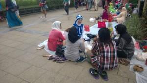 Socializing in Victoria Park