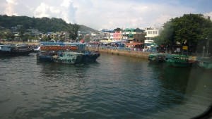 Taking off from Cheung Chua Island to Hong Kong via the Fast Ferry