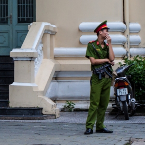 Uzi needed to guard the Finance Bldg in Saigon
