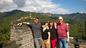 Sharing the Great Wall with our friends, Patti & Larry, was awesome.