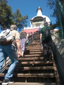 69 Steps to the White Pagoda!  Climb baby climb!