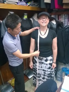Sizing me up for a French cuff shirt