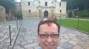 Selfie at the Alamo, which is right downtown San Antonio by the River Walk