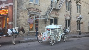 Beautiful carriages straight out of Cinderella, all lit up at night, are all over downtown San Antonio.