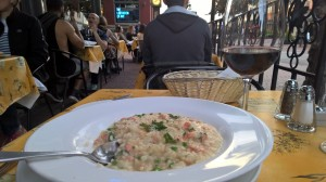 Salmon risotto rand BC local wine...how Canadian of me