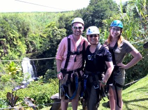 Zip lining on Big Island with the kids was a joy!