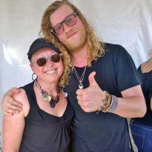 Allen Stone and I hanging out at his private concert for my company.  Cool dude!