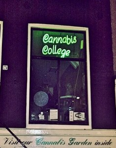Cannabis College in the Red Light District..wonder how many credits needed to graduate?