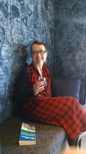 Cozy nook to sip wine at Andaz