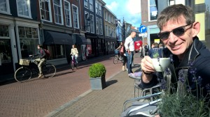 Enjoying café life in The Hague