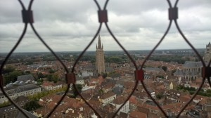 The view of Bruges from the Bell Tower