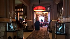 Luxurious elegance in lobby at Hotel Des Indes