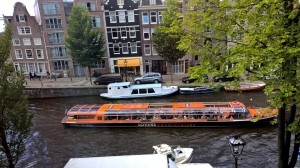 Cruise boats are limited to 4 mph on the canals