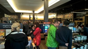 Amazon Book Store at University Village was hopping on Friday